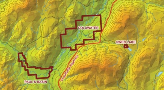 CIB Reserve Lands topographical map